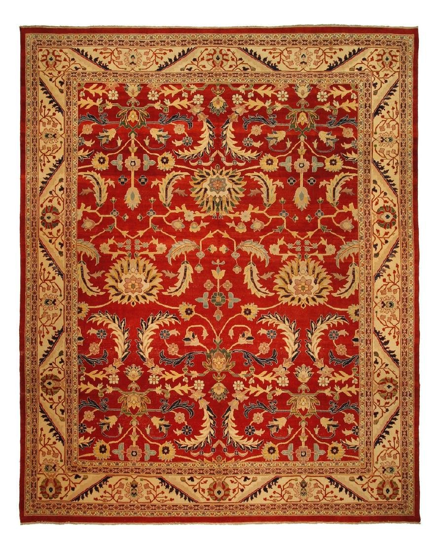 Persian Hand Knotted Wool Mahal Rug 12x14.7