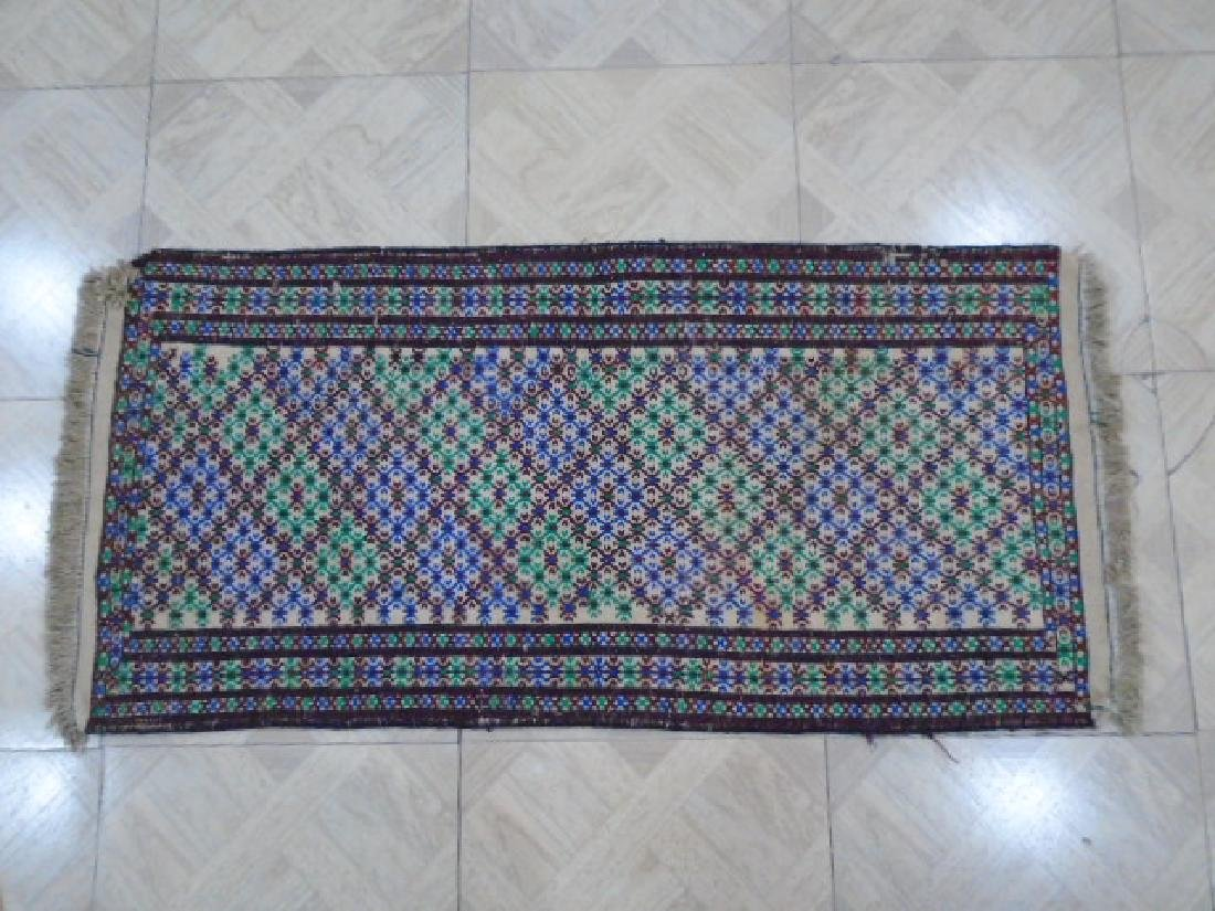 Beautiful Sumak Kilim Rug 3.9x1.9