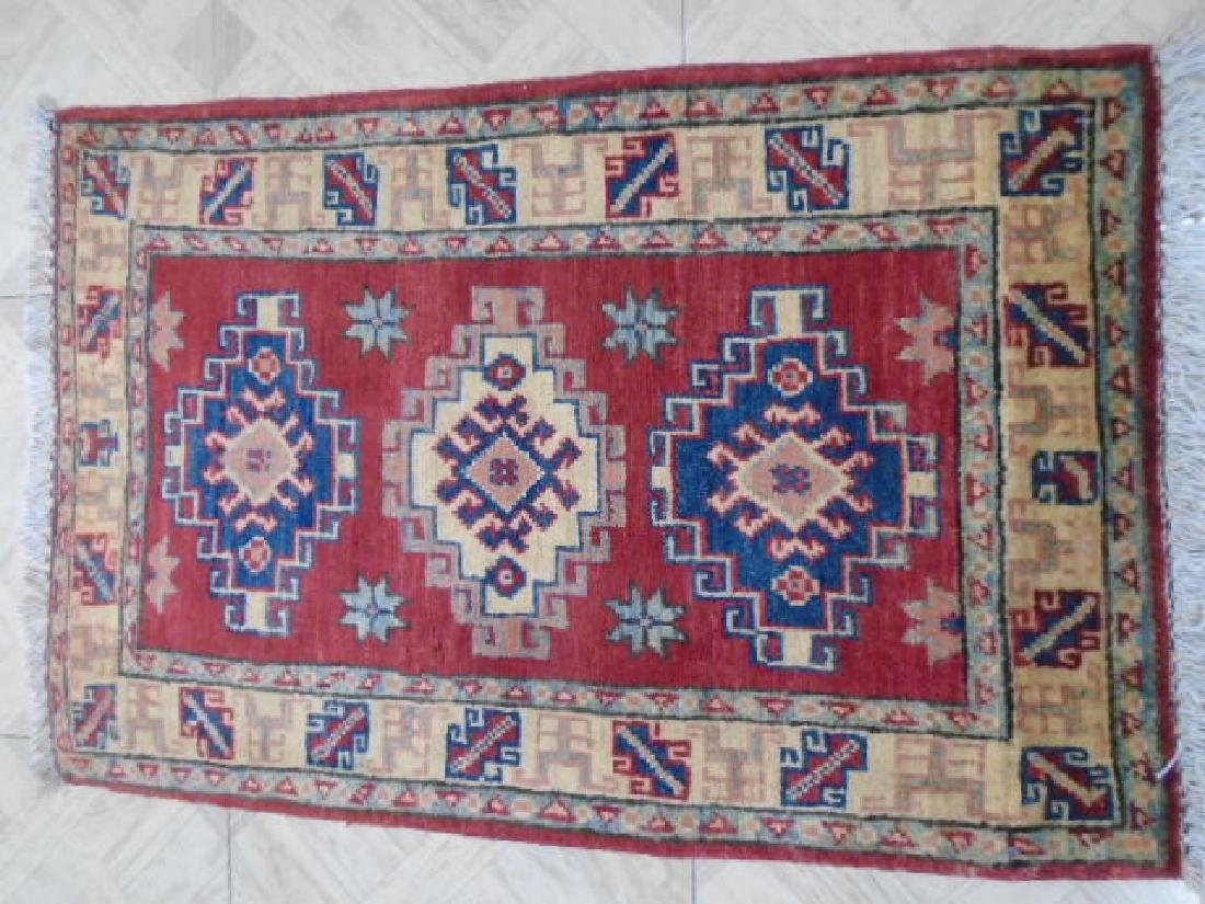 Amazing Kazak Hand Made Rug 2.11x1.11