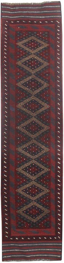 Tribal Handmade Runner Mashwani Mizmast Rug 1.10x8.4