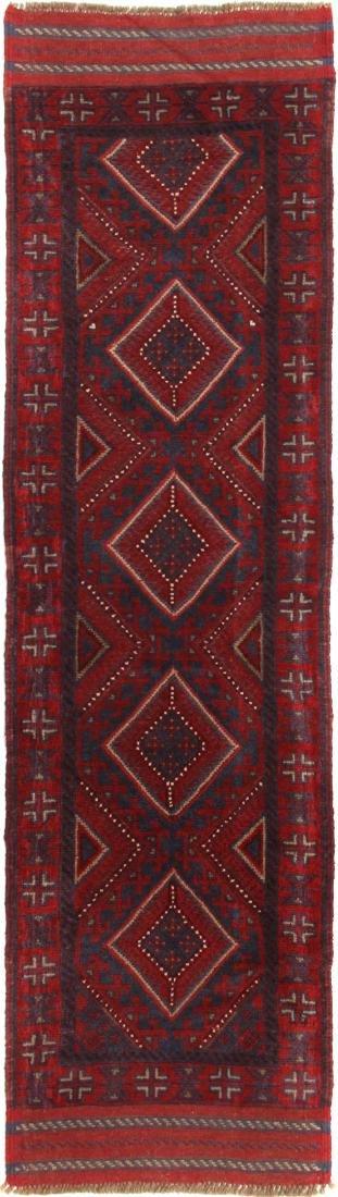 Handmade Mashwani Taimani Tribal Runner Rug 2x7.8