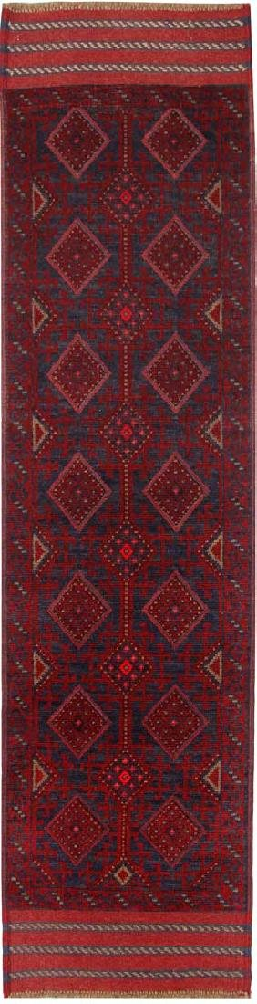 Tribal Hand-Knotted Runner Mashwani Zuri Rug 2x7.8