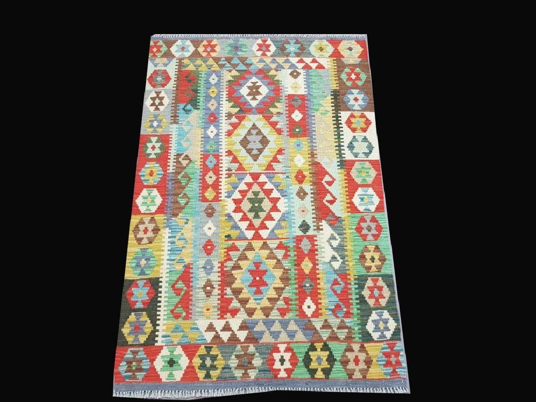 Handmade Kilim Multi Color Quality Scatter Rug 3.3x5