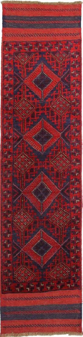 Mashwani Berberi Hand-Knotted Baluch Runner Rug 1.11x8