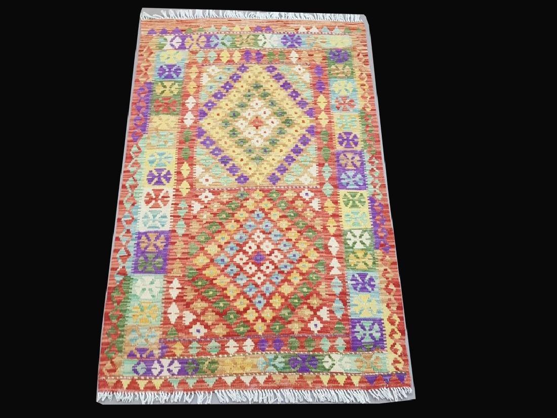Handmade Kilim Flat Native American Inspired Rug 3.3x5