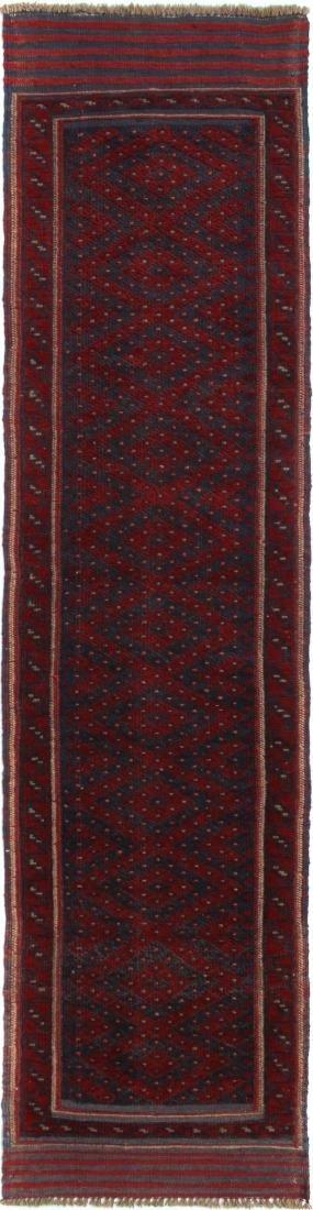 Hand-Knot Runner Mashwani Nomads Baluchistan Rug 1.11x8