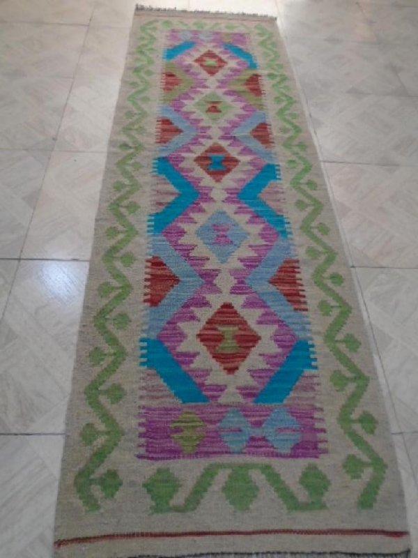 Hand Woven Chobi Runner Rug 6.5x2
