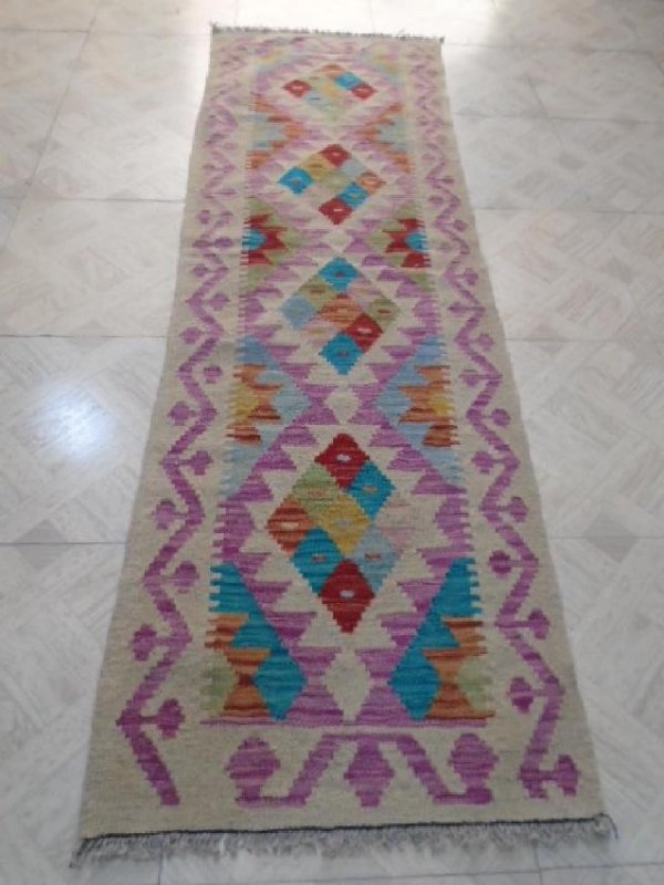 Hand Woven Chobi Runner Rug 6.6x2