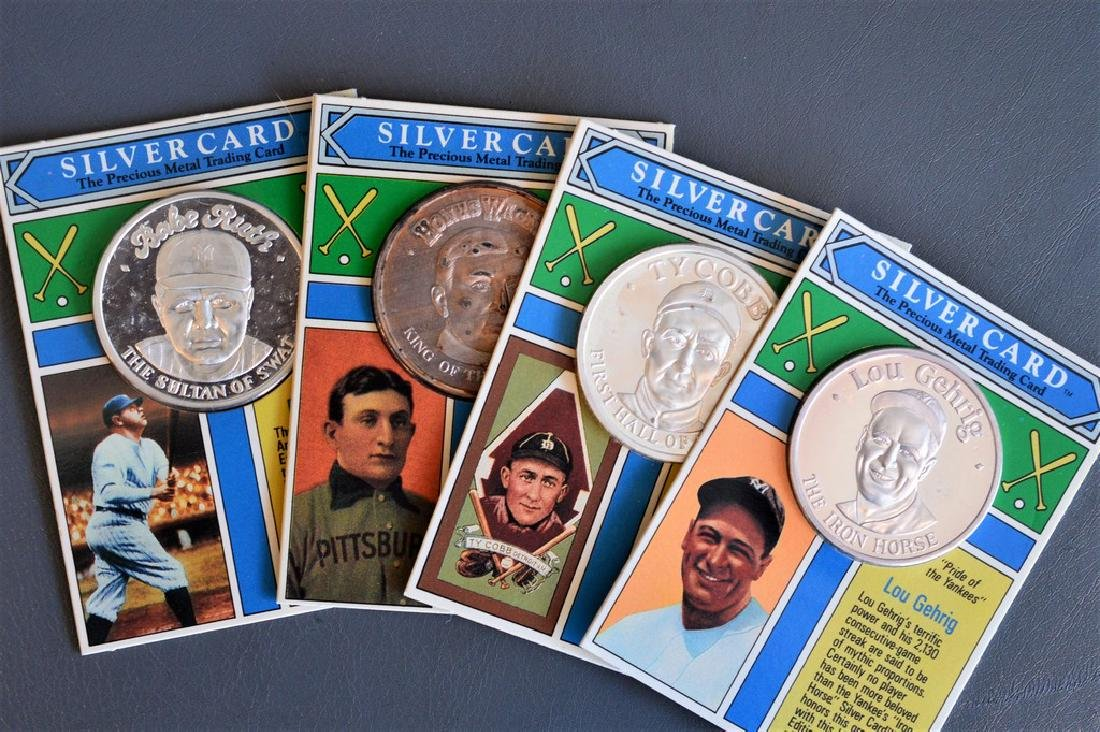 Collection of Precious Metal Baseball Trading Cards