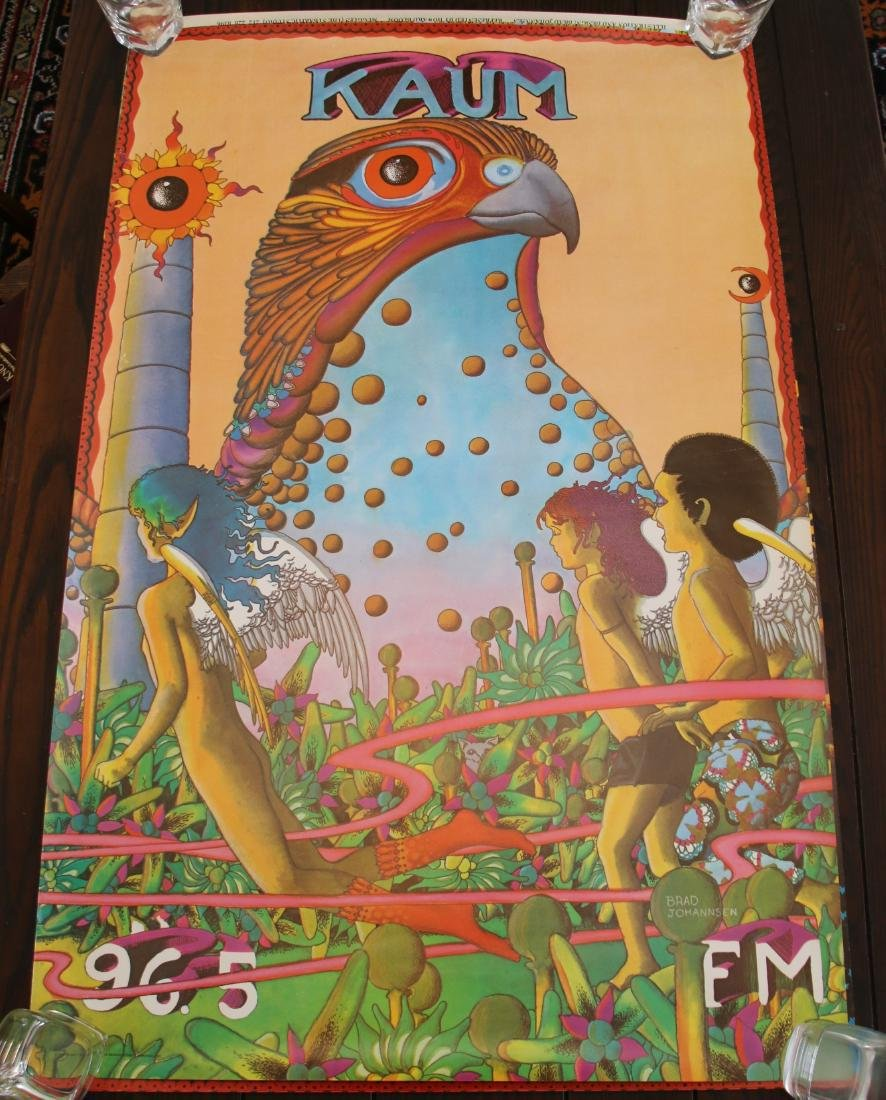 Original KAUM 96.5 FM Houston, TX ABC Radio Poster 1971