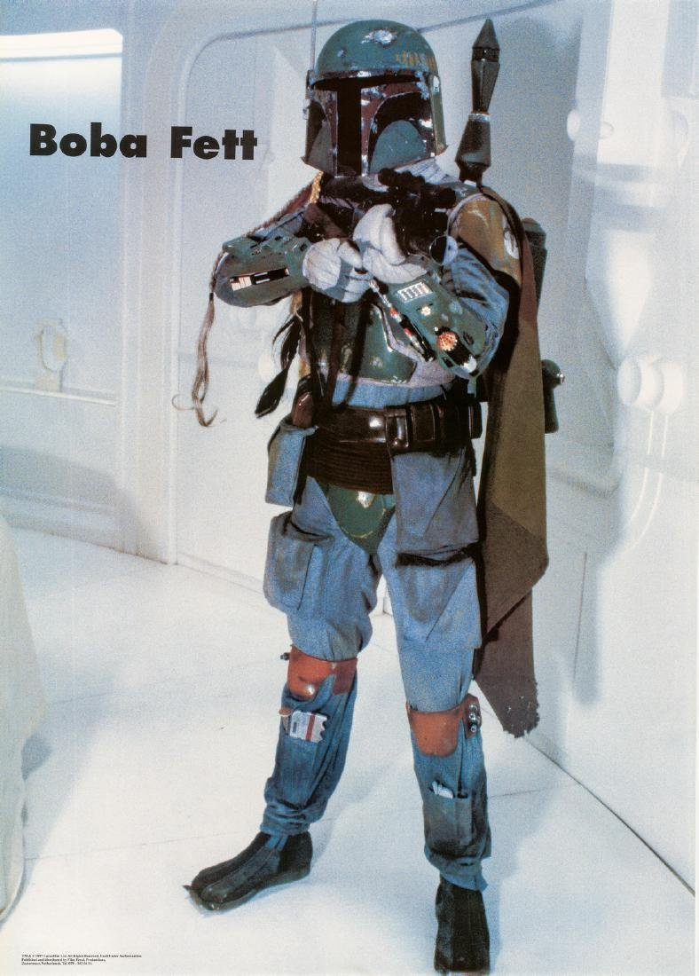 Star Wars 1977 Dutch Boba Fett Character Poster