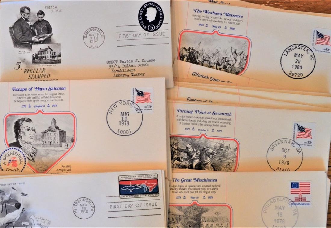 1960's & 1970's 350+ First Day Issue Stamp Collection
