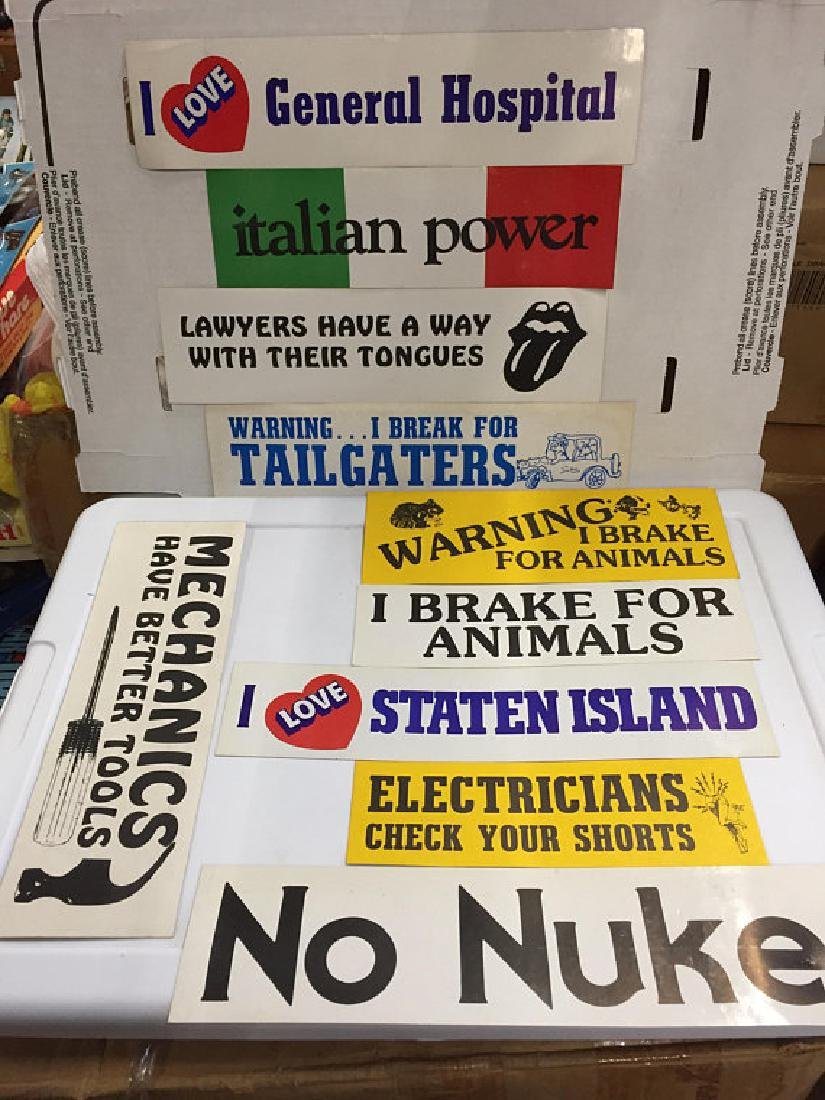 Vintage Assortment of Bumper Stickers Fun Slogans Retro
