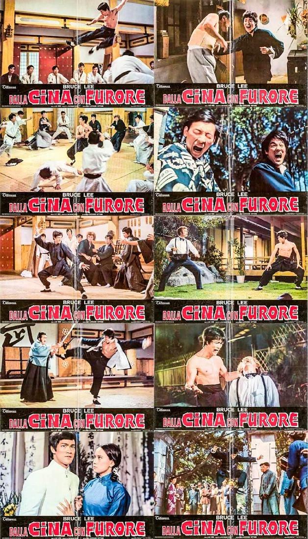 Fist of Fury 10 Italian Fotobustas R1973 Bruce Lee