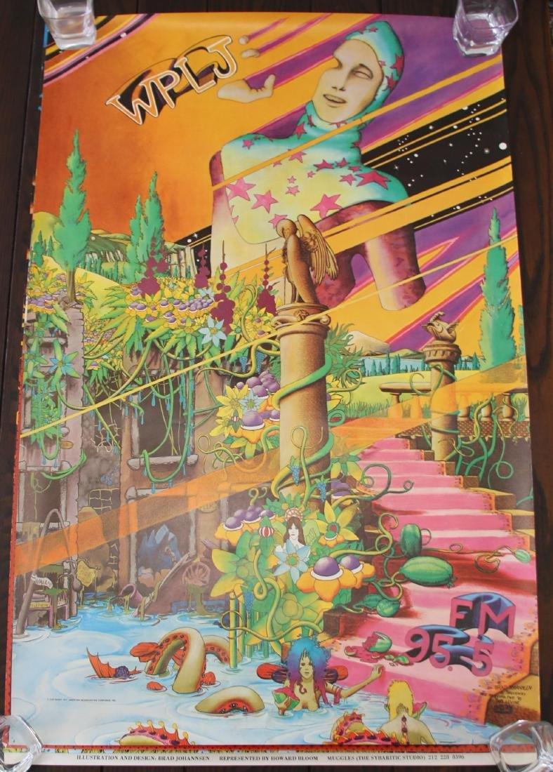 Original WPLJ 95.5 FM NY Radio Promo Poster (1971)