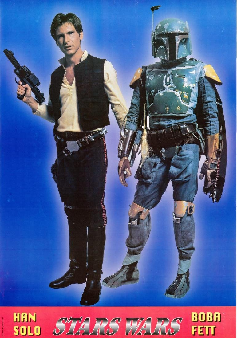 Italian Character Poster 1977 Star Wars Boba Fett