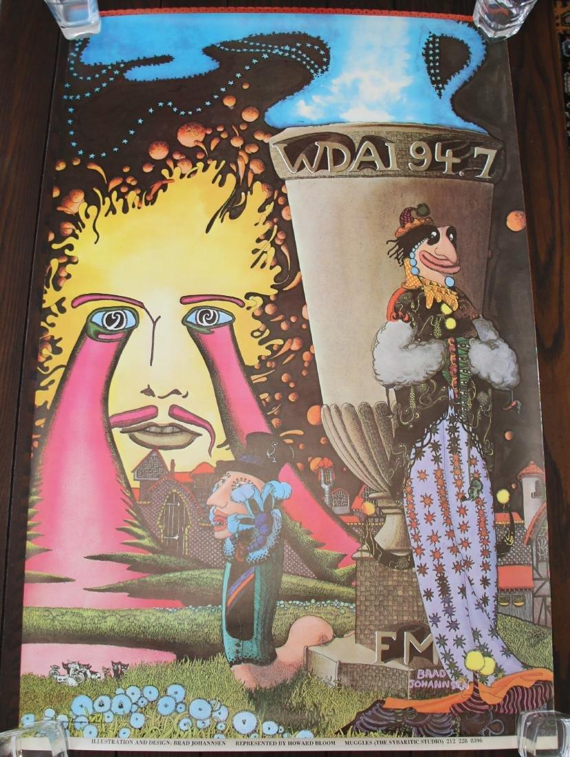 Original WDAI 94.7 FM Chicago, IL ABC Radio Poster 1971