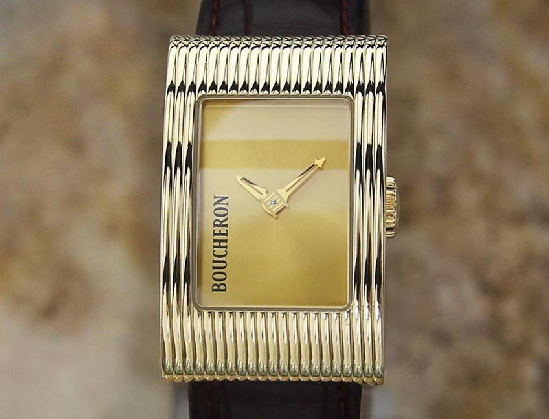 Boucheron Reflet Ladies 18k Solid Yellow Gold Quartz