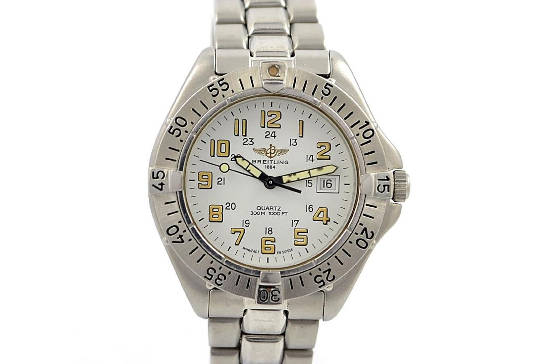 Breitling 1884 Colt A57035 Stainless Steel Quartz Mens