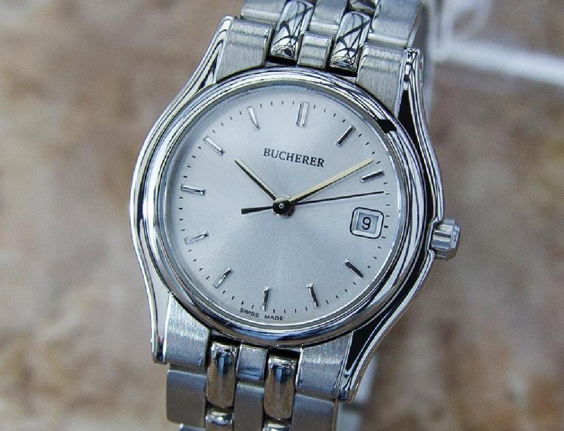 Bucherer Swiss Made Ladies Stainless Steel Luxury