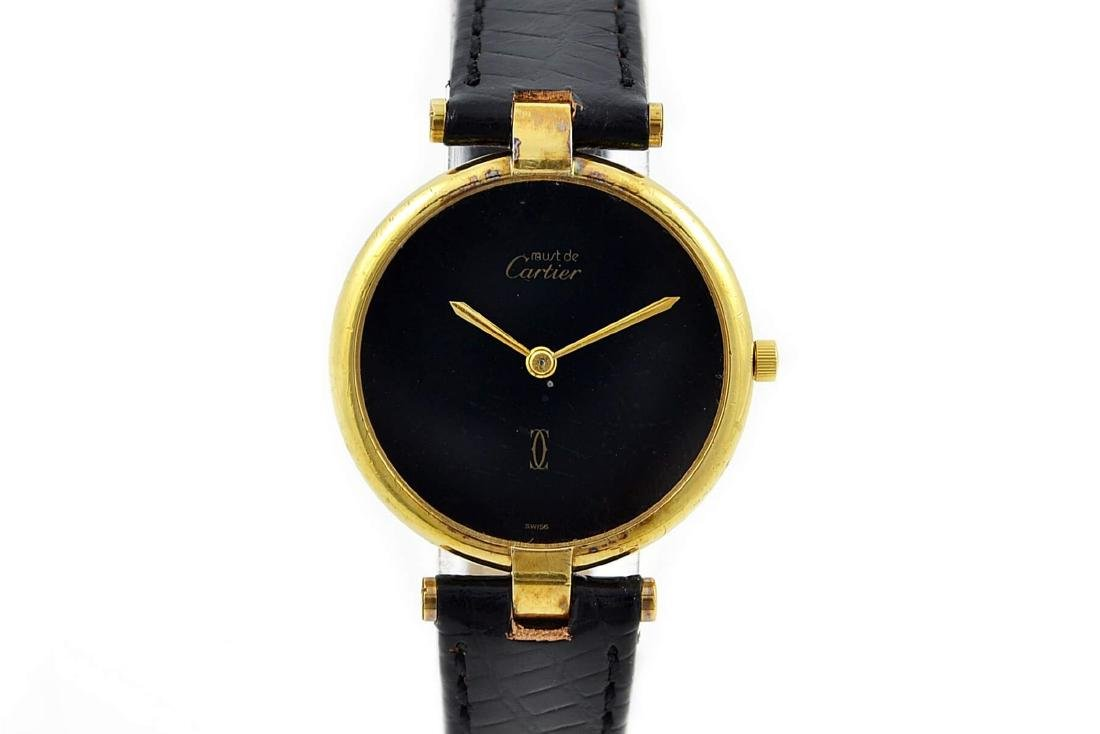 Vintage Must De Cartier Argent 925 Gold Plated Quartz