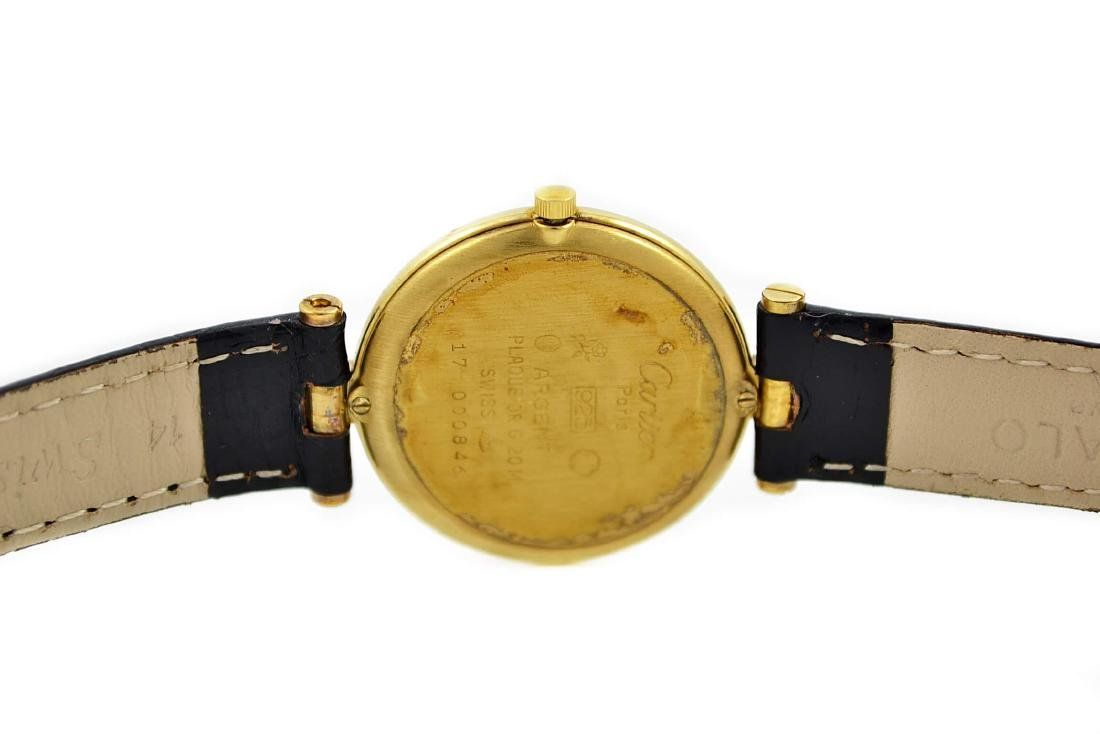 Vintage Must De Cartier Argent 925 Gold Plated Quartz - 4