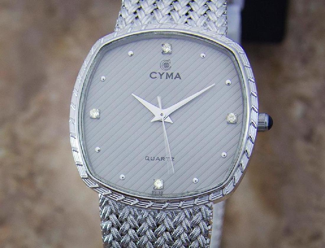 Cyma Swiss Made Unisex 1980s Quartz Luxury Stainless