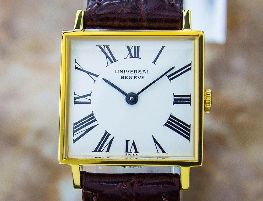 Universal Geneve Beautiful Vintage Gold Plated Manual