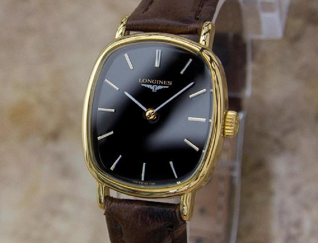 Longines Swiss Made Ladies 21mm Vintage 1980s Gold