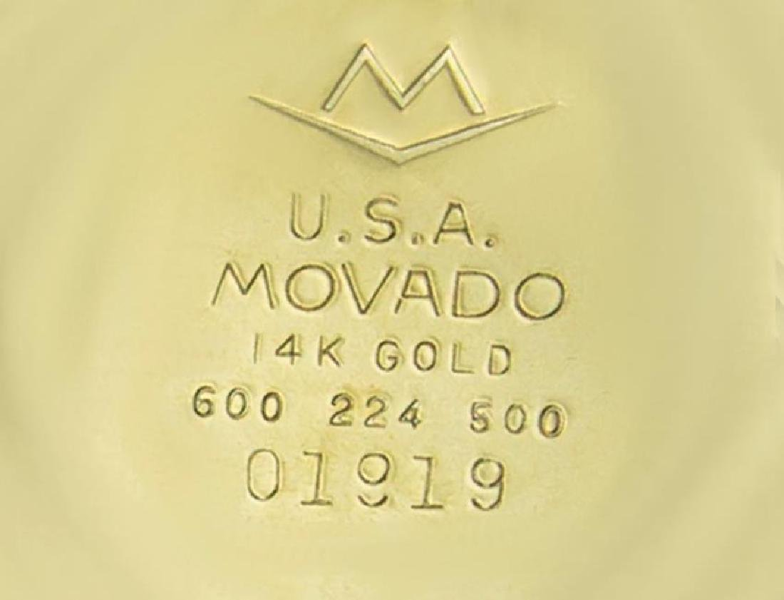 Movado Tempo Matic 14k Gold Swiss Made Mens 1960s - 10