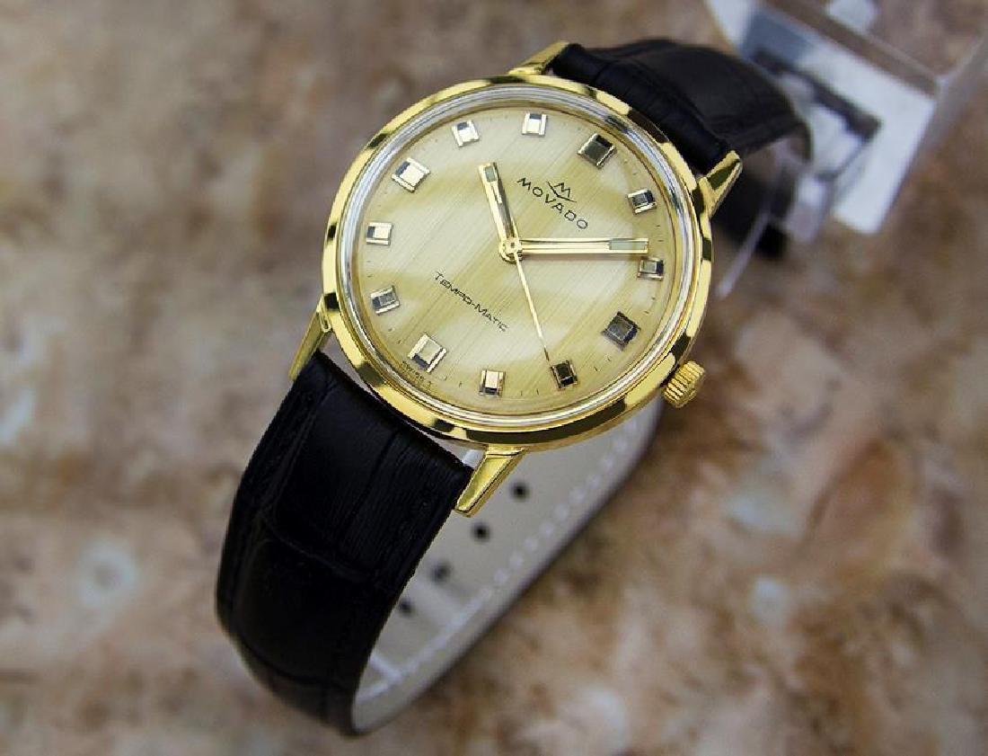 Movado Tempo Matic 14k Gold Swiss Made Mens 1960s - 2
