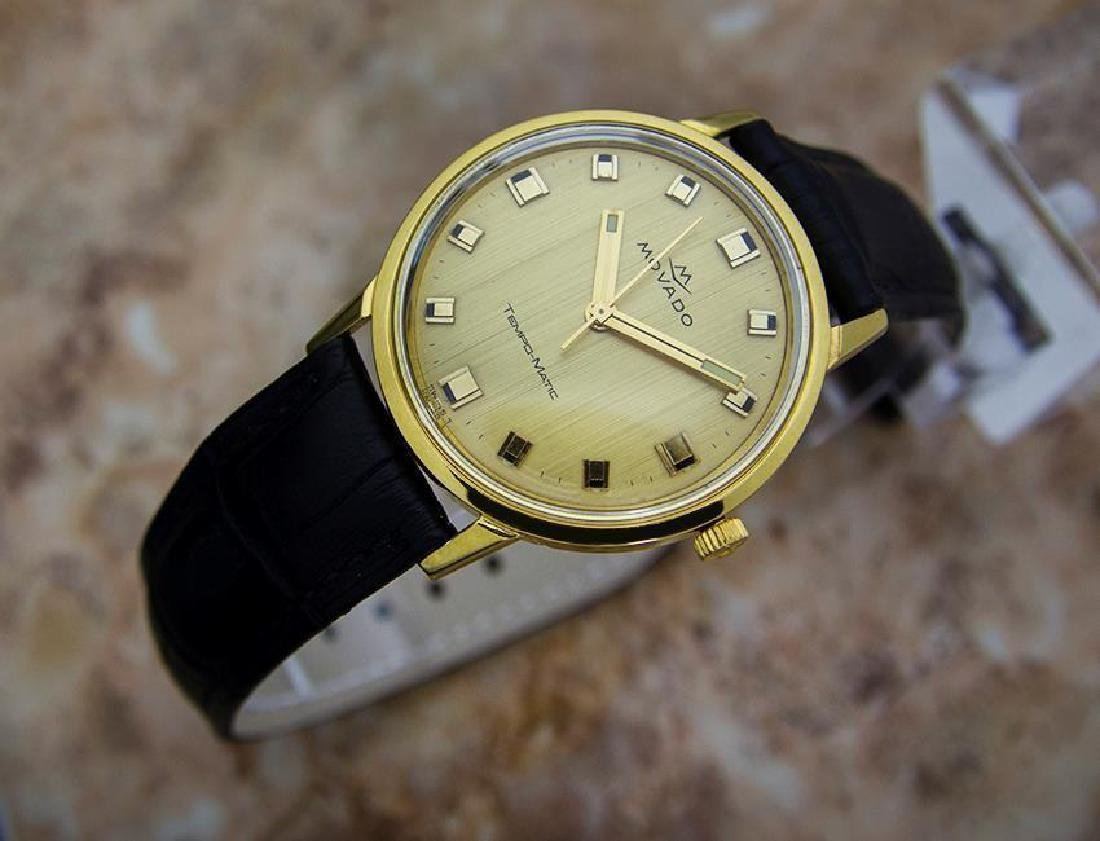Movado Tempo Matic 14k Gold Swiss Made Mens 1960s - 3