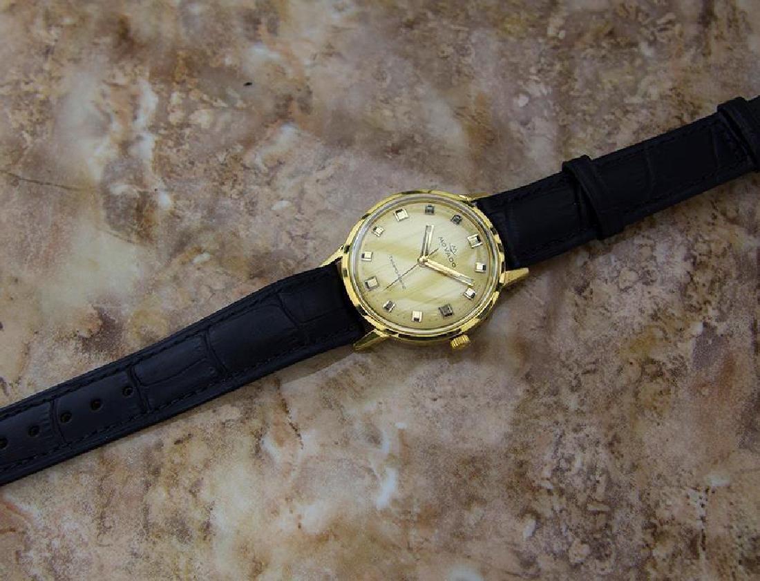 Movado Tempo Matic 14k Gold Swiss Made Mens 1960s - 6