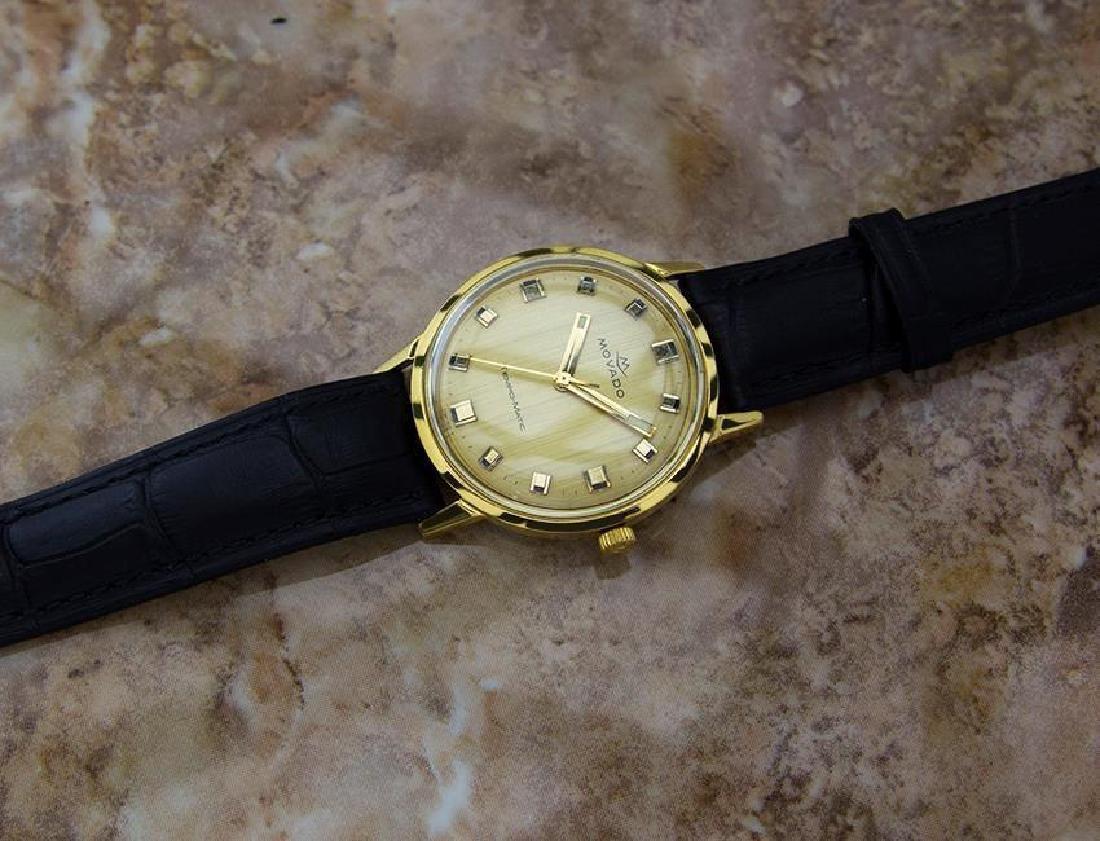 Movado Tempo Matic 14k Gold Swiss Made Mens 1960s - 7
