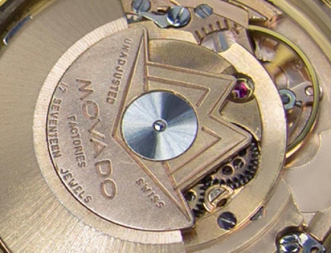 Movado Tempo Matic 14k Gold Swiss Made Mens 1960s - 9