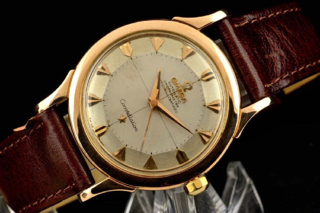Omega Constellation Rose Gold 18k Pie Pan Dial from a - 10