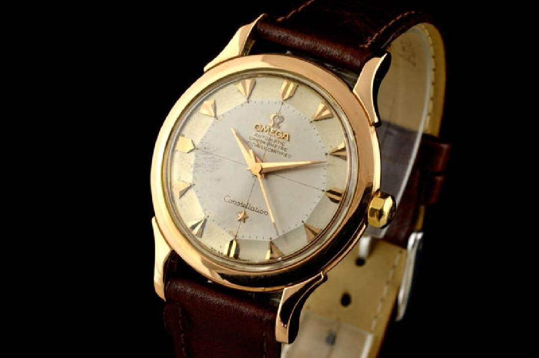 Omega Constellation Rose Gold 18k Pie Pan Dial from a