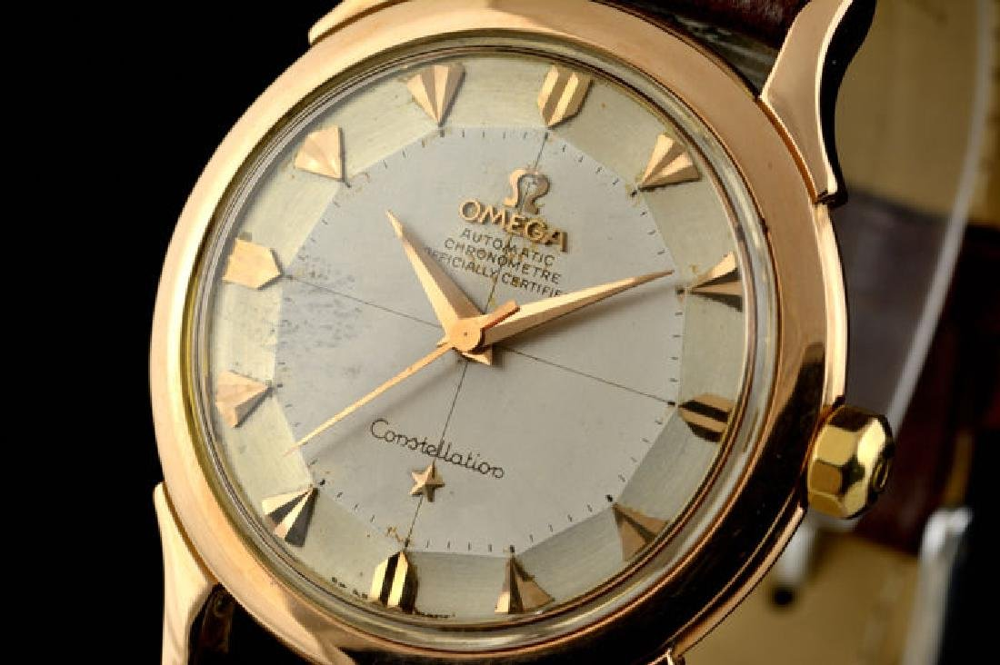 Omega Constellation Rose Gold 18k Pie Pan Dial from a - 3