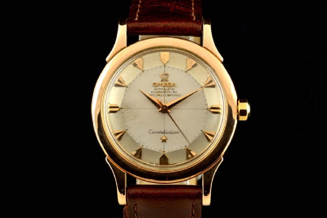 Omega Constellation Rose Gold 18k Pie Pan Dial from a - 6
