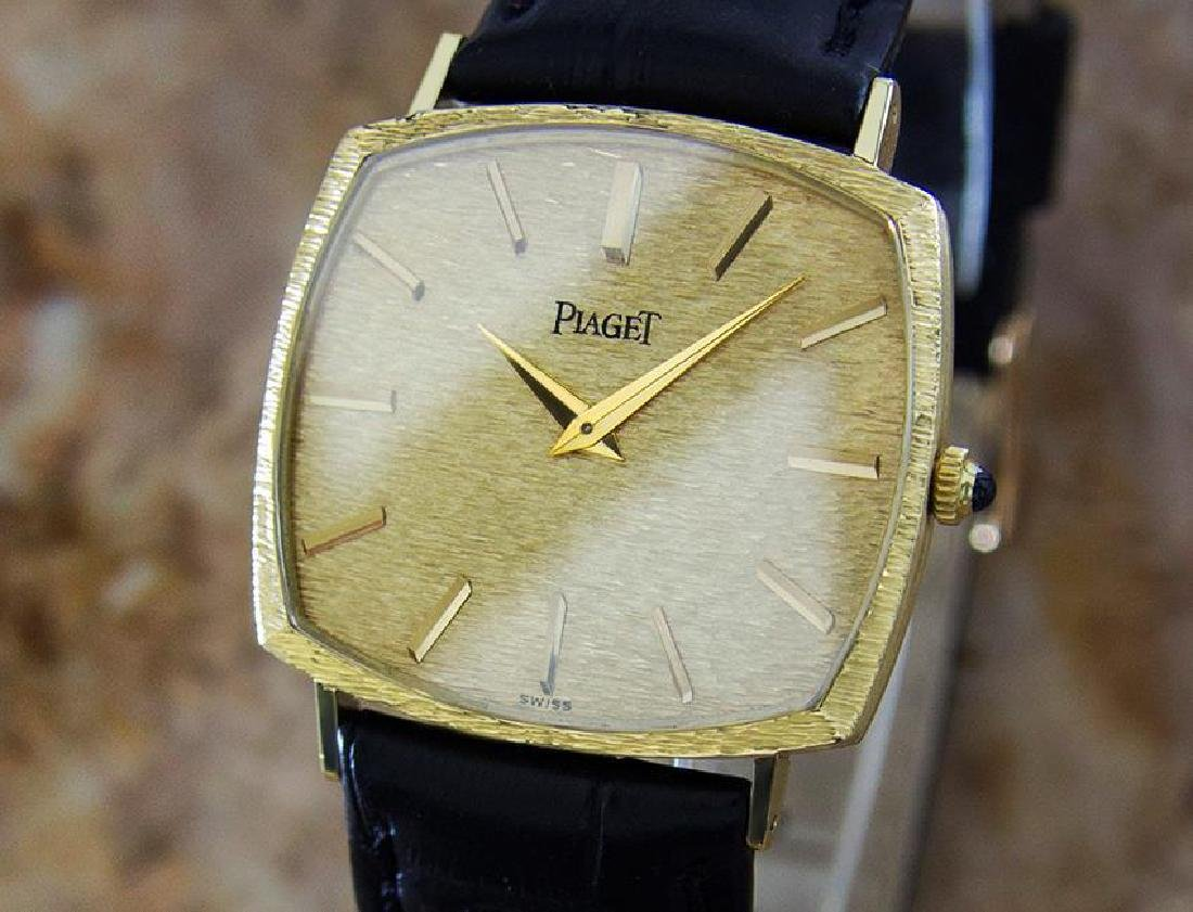 Piaget 18k Solid Gold Men's 1980s Vintage Manual