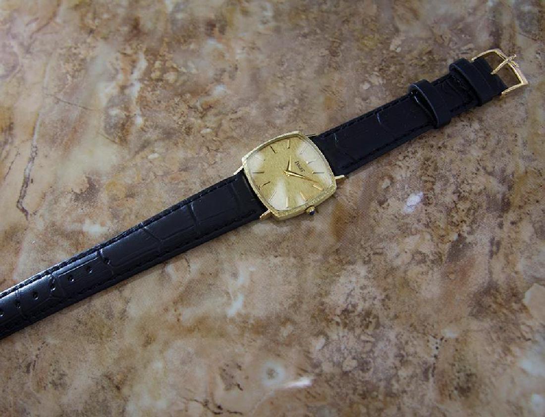 Piaget 18k Solid Gold Men's 1980s Vintage Manual - 6