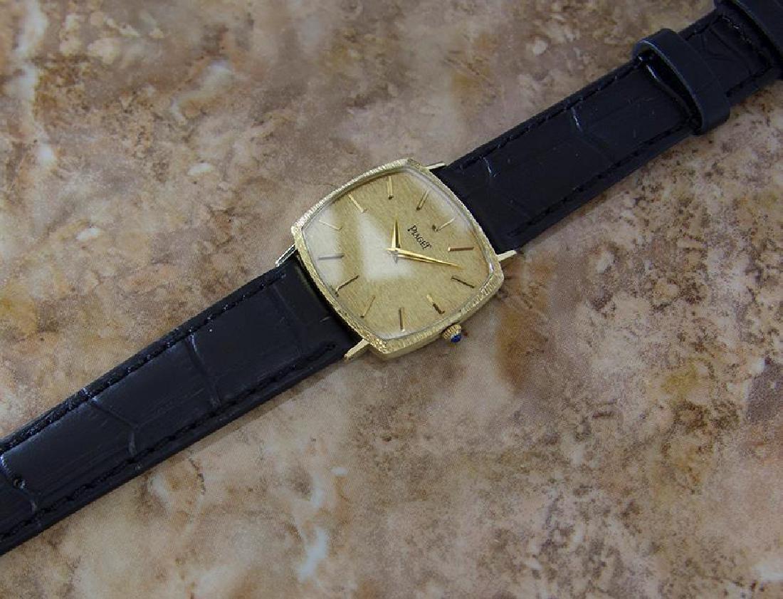 Piaget 18k Solid Gold Men's 1980s Vintage Manual - 7