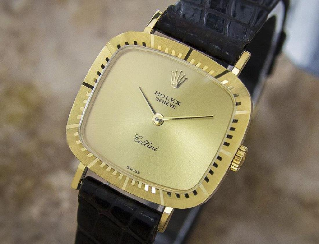 Rolex Cellini 18K Solid Gold Dress Watch Swiss 1980