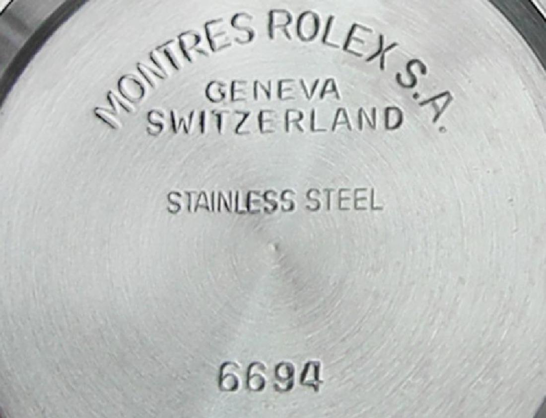 Vintage Rolex Oysterdate Mens 6694 Manual Swiss Ser - 10