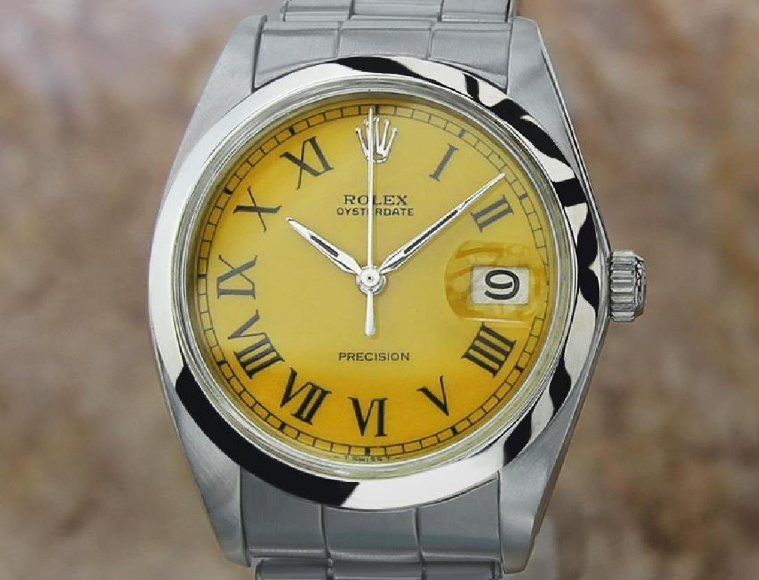 Vintage Rolex Oysterdate Mens 6694 Manual Swiss Ser
