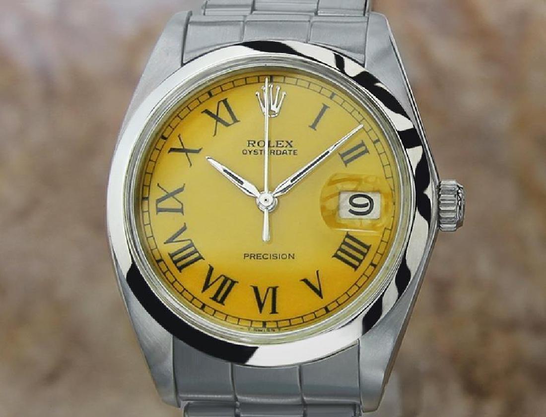 Vintage Rolex Oysterdate Mens 6694 Manual Swiss Ser