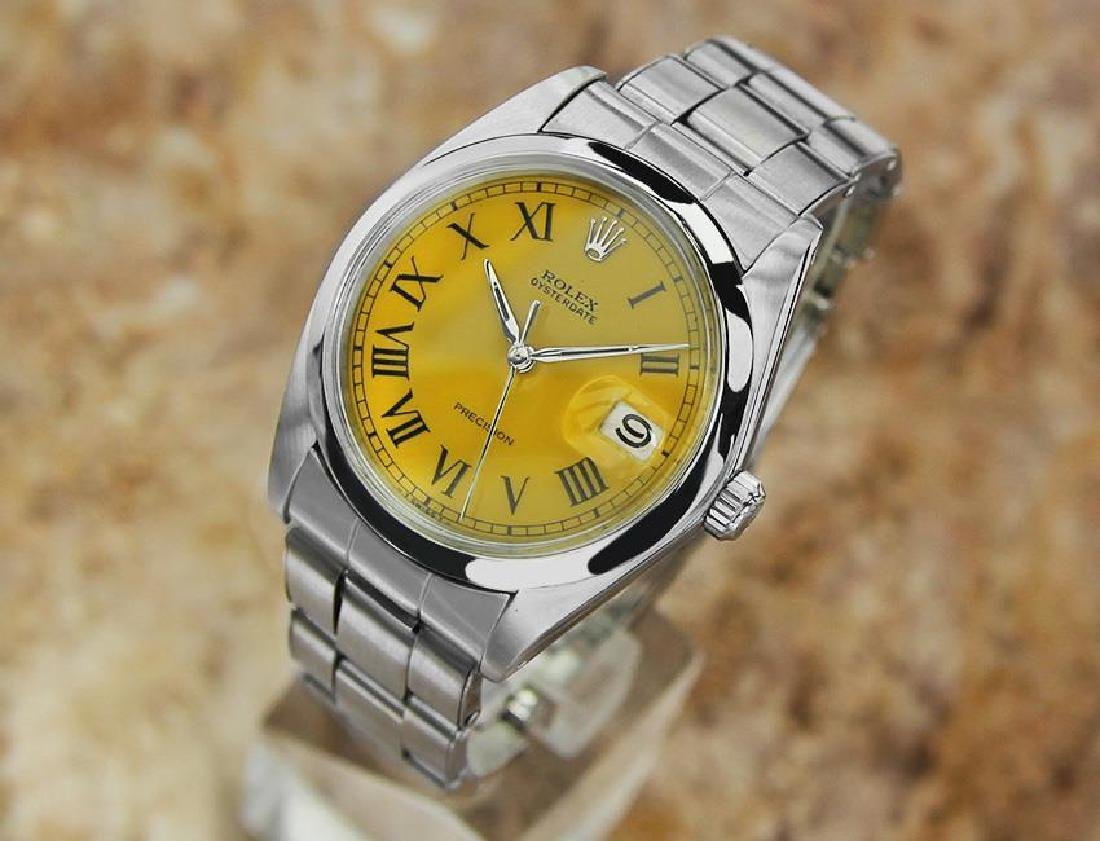 Vintage Rolex Oysterdate Mens 6694 Manual Swiss Ser - 2