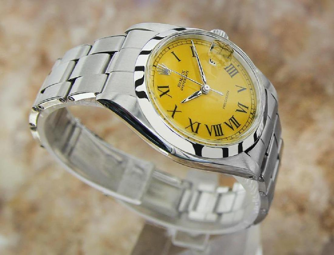 Vintage Rolex Oysterdate Mens 6694 Manual Swiss Ser - 3