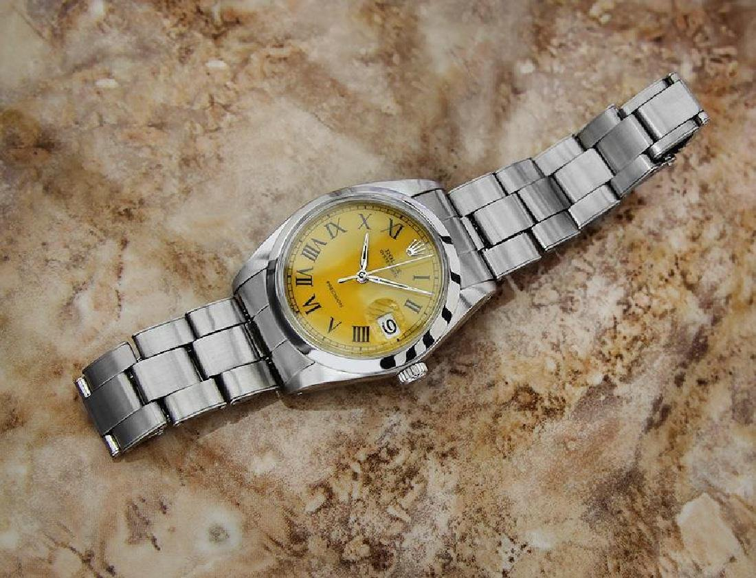 Vintage Rolex Oysterdate Mens 6694 Manual Swiss Ser - 5