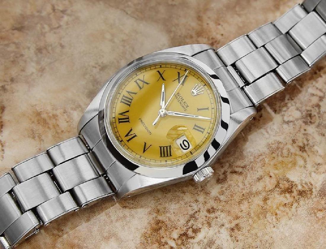 Vintage Rolex Oysterdate Mens 6694 Manual Swiss Ser - 6
